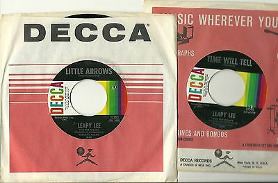 LEAPY LEE, LITTLE ARROWS b/w TIME WILL TELL, ORIGINAL 1968 45rpm, MINT-