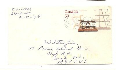 Pre-Stamped Envelope Canadian Postage 39 Cent National Postage Museum