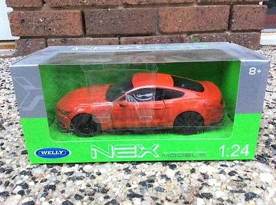 welly 1:24 Ford Mustang GT Diecast Metal Model Car Vehicle new in box black