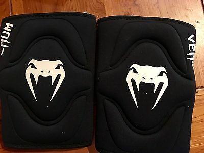 Venum Kontact Evo Knee Pads - Black S Small - FREE SHIPPING