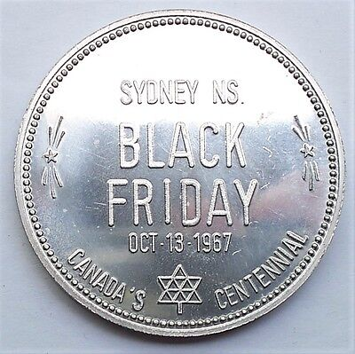 1967 Sydney NS Black Friday Canada Centennial Medal