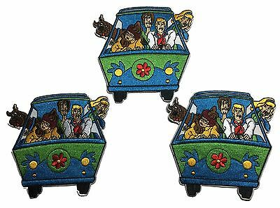 Scooby Doo Gang In Van Embroidered Iron On Patch Set of 3 Patches