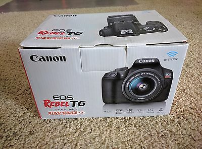 New! UPC removed! Canon EOS Rebel T6 DSLR Camera Kit w/ EF-S 18-55mm IS II Lens