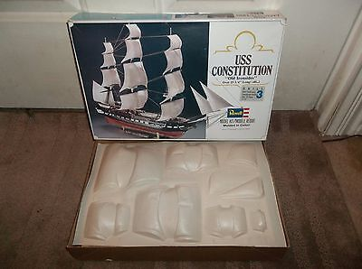 Vintage 1987 Revell USS Constitution, Medium Scale, Open Box, Sealed Contents