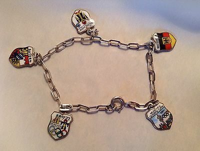 Vintage Silver Charm Bracelet From Munich Summer Olympics 1972 V. Rare !