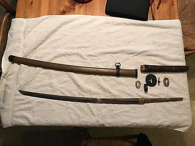 minty japanese ww2 landing forces sword signed 44 mounts
