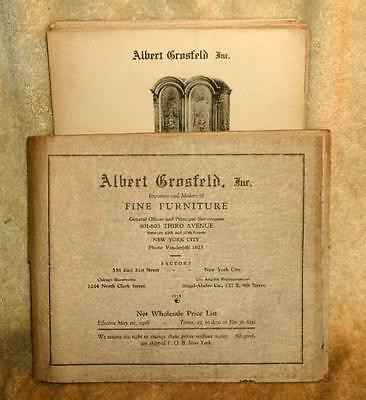 1928 Albert Crosfeld Fine Furniture Catalog & Price List