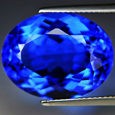 BIG! 10.30cts.16x13.5mm. OVAL TANZANITE BLUE COLOR CREATE STONE