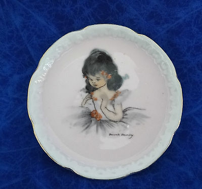 Vintage Brownie Downing Ballerina Small Plate Wall Hanging 10Cm Wide