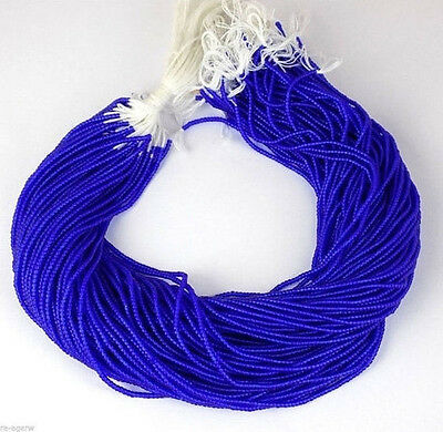 """20 Strands Stabilized Lapis Lazuli Seed Rondelle 2-2.5mm 12.5"""" Long Smooth Beads"""