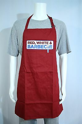 NEW Kroger Grocery Store Summer 4th Of July Promo Apron Red White & Barbecue