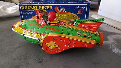 Rocket Racer Tin Friction Toy Schylling Collector Series 2001 New in Box