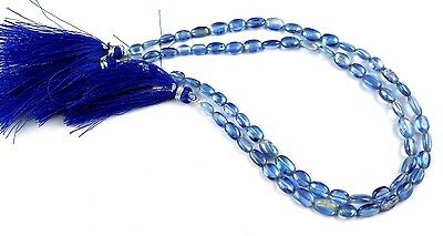 """1 Strand Natural kyanite Oval Shape Approx- 4x6-5x9mm Smooth Gemstone 10"""" Long"""