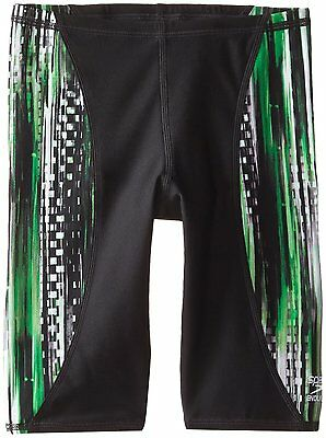 Speedo Big Boys' Boy's Deep Within Jammer Swimwear Green Black Size 24