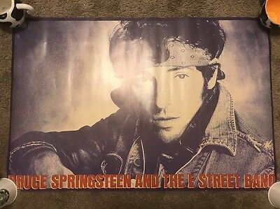 Original Vintage Bruce Springsteen And The E Street Band Poster 1985