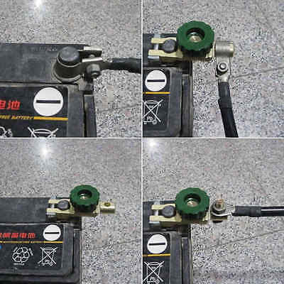 1pc Universal Auto Car Battery Terminal Switch Cut-off Disconnect Isolator Green