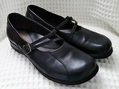 Planet Shoes Womens Flat Black Leather Mary Jane Shoes Size 40 Or 9
