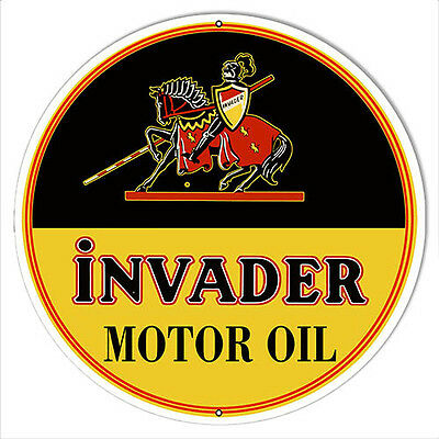 Invader Motor Oil Reproduction Sign 14x14
