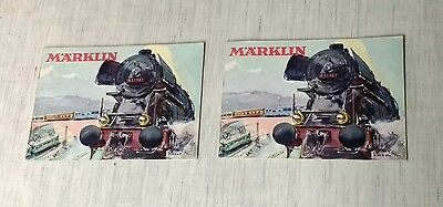 Lot Of 2 - 1954 Marklin Locomotive HO Gauge Color Catalogs In ENGLISH & GERMAN !