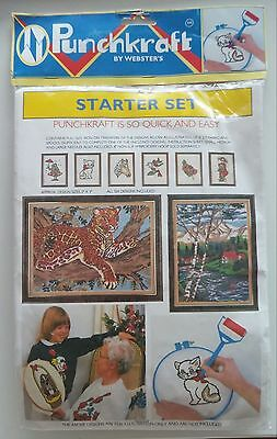 Punchkraft Starter Set Kit - Punch Needle Embroidery with tool by Webster's
