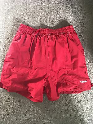 Mens Red Speedo Swim Running Active Shorts