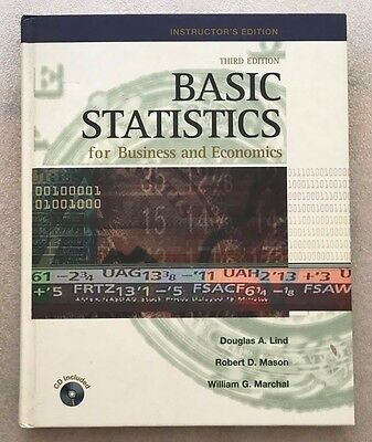 BASIC STATISTICS for BUSINESS and ECONOMICS THIRD EDITION-TEACHER'S EDITION NEW