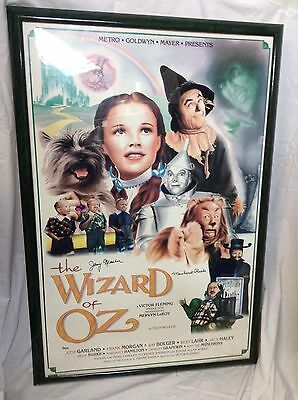 Wizard of Oz Movie Poster Signed by 2 Munchkins! COA - Free Shipping -