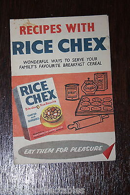 Cereal Advertising Leaflet Rice Chex