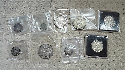 Large Collection Of Silver Coins & More Job Lot