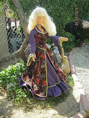 "REDUCED! OOAK 38"" My Size Barbie Medieval style dress (NO DOLL)"
