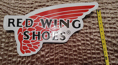 Red Wing Shoes Display Sign Rare Vintage Collectible