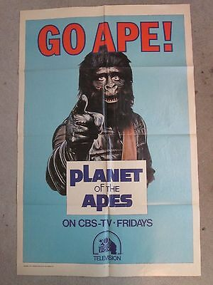 Go Ape   - 1974 1sheet  CBS TV Style  Poster - Planet Of The Apes