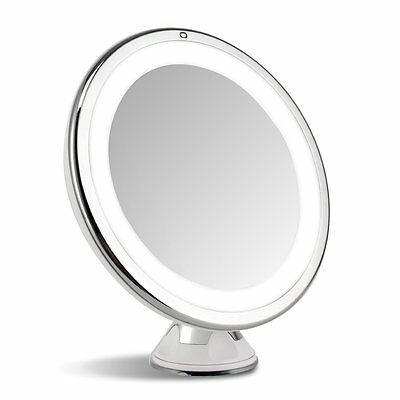 7X Magnification LED Lighted Stand Cosmetic Makeup Vanity Mirror 360° Roltation