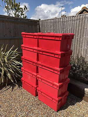 10 x Heavy Duty Storage Boxes with Lids
