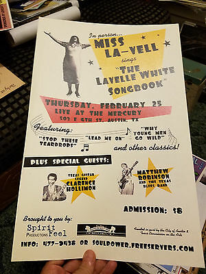 Blues Concert Poster Austin Texas Miss - LaVell