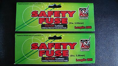 "(2) Shogun Legend Hobby ""CANNON FUSE"" Safety Fuse Labels"