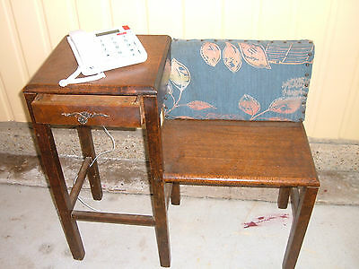 Antique Silky Oak Phone Table