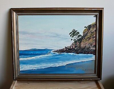 Beautiful​ Original Oil Painting Beach Landscape by Ralph Rabone Signed