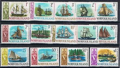 Norfolk Island 1967 Ships complete Mint MH