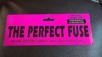 "(1) Perfect Pink Hobby ""CANNON FUSE"" Safety Fuse Labels"