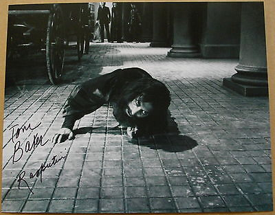 """Tom Baker Dr Who Autograph Hand Signed Photo 10"""" X 8"""""""