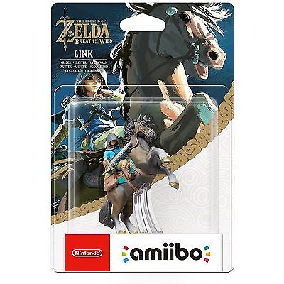 Legend Of Zelda Breath Of The Wild LINK RIDER Amiibo Wii 3DS MINT BNIB Amiibos