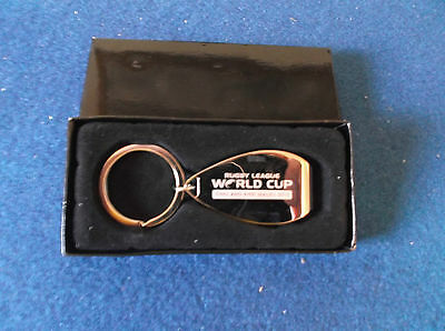 Rugby League World Cup 2013 Bottle opener Key Ring in original box.