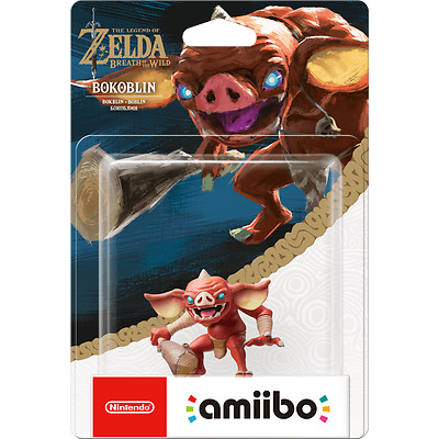 Legend Of Zelda Breath Of The Wild BOKOBLIN  Amiibo Wii 3DS MINT BNIB Amiibos