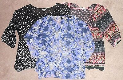 Sheer tops bundle x 3, Red Herring, Dorothy Perkins, Peacocks - 12