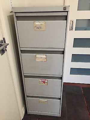 Filing Cabinet 4 drawer with key
