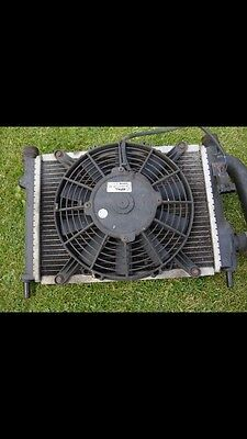 Classic Rover Mini Mpi Injection Front Mounted Radiator With Elec Fan Complete