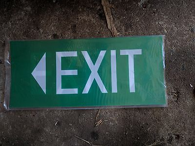 EXIT sign,  360mm x 160mm thickness: 0.5mm flexible plastic. FAMCO