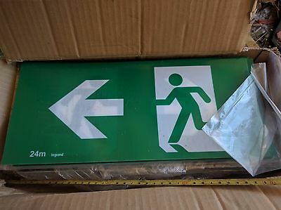 EXIT sign (picture) 360mm x 160mm thickness: 0.5mm flexible plastic. FAMCO