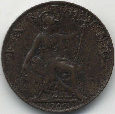 1910 Edward VII Farthing***High Grade***Collectors***Key Date***